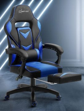 PU Leather Office Gaming Chair blue