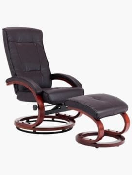 PU Leather Reclining Office Chair bown