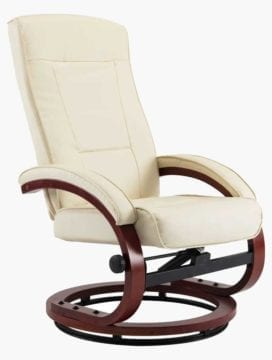 PU Leather Reclining Office Chair cream