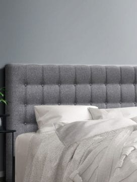 Vos Fabric Headboard in Grey