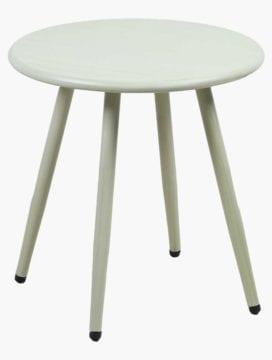 White Nina Steel Side Table