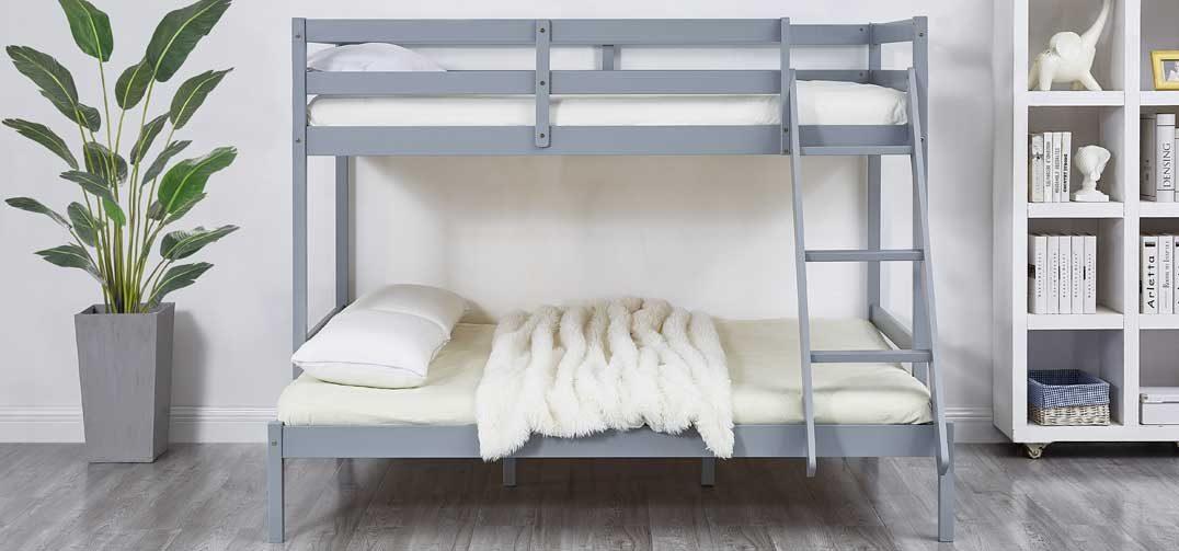 Astro Kids Triple Bunk Bed Frame Grey