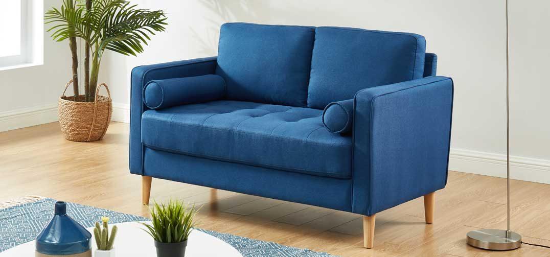 Chloe Sofa Bed 2 Seater Blue