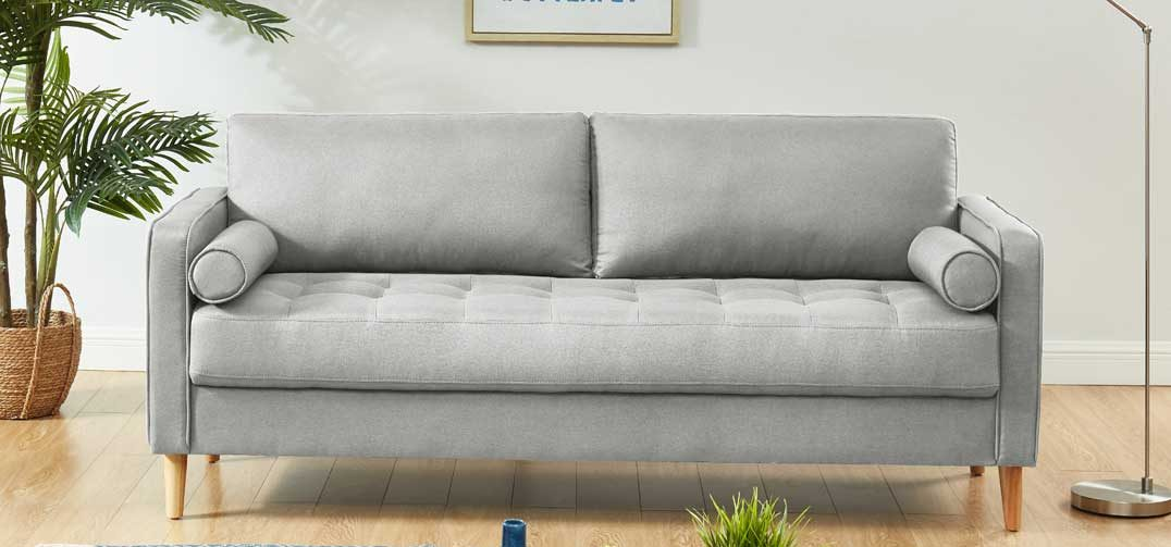Chloe Sofa Bed 3 Seater light grey