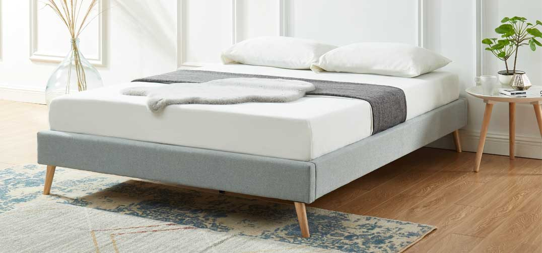 Ervy Bed Base-Light Grey