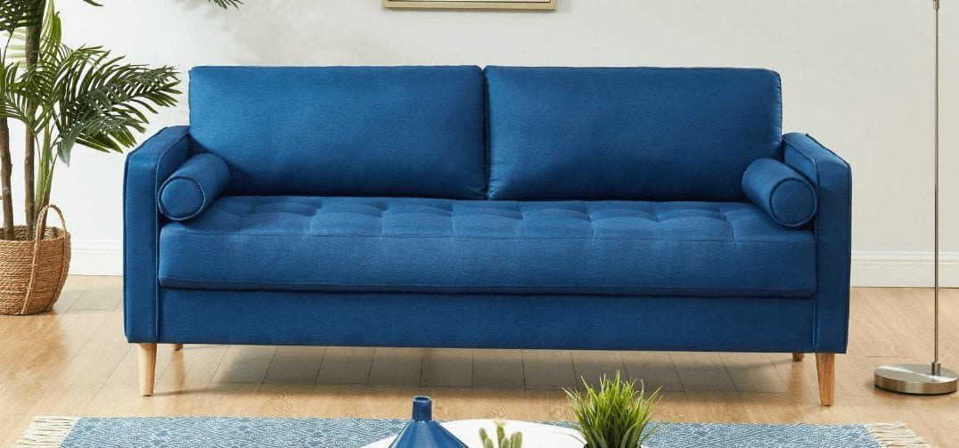 Chloe 2 Seater Sofa Blue