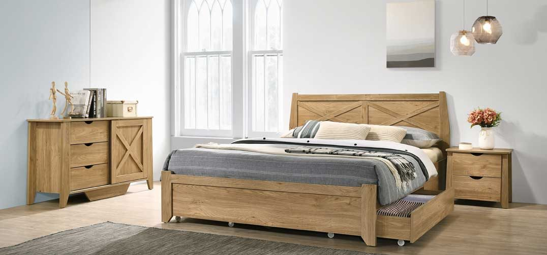 Mia Bed Frame with Storage Drawers