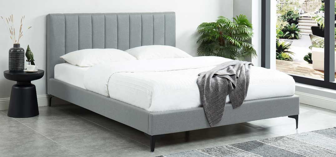 Orka Bed Frame Stone Grey